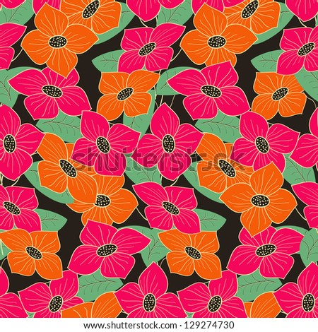 abstract vector floral  pattern seamless