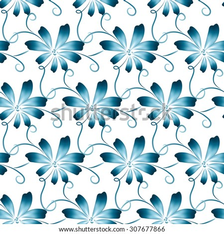 abstract vector floral seamless background pattern stock vector rh shutterstock com flower pattern vector png flower pattern vector free