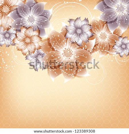 abstract vector flower background - stock vector