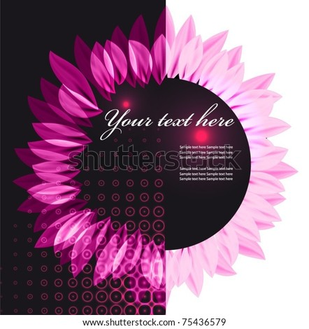 Abstract vector flower background. - stock vector