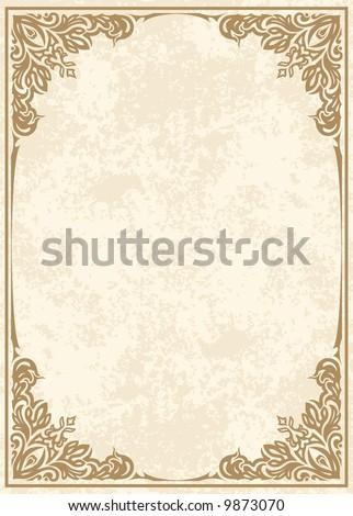 Abstract vector frame - stock vector