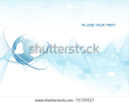 abstract vector frame with globe and copy space. Eps10 - stock vector