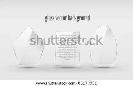 Abstract vector frames of transparent glass. Isolated. Eps 10 - stock vector