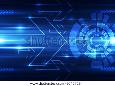 abstract vector future technology speed background illustration - stock vector