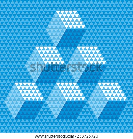 Abstract Vector Geometric Cube and Triangle Background - stock vector