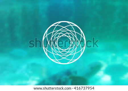 Abstract vector geometric shapes. Circular. You can use it for design icons, logos masks and overlaying on photos. - stock vector