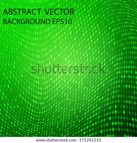 abstract vector green grid for your design - stock vector