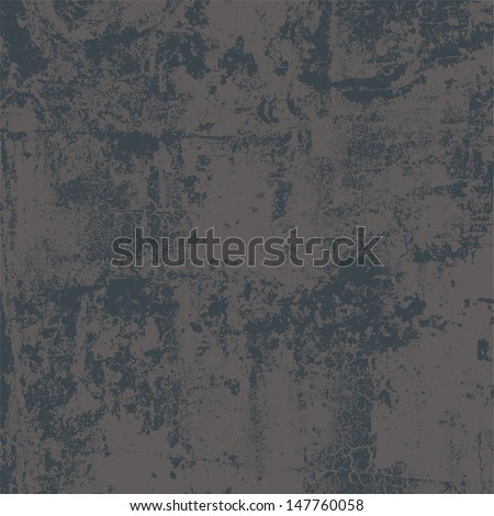 Abstract vector grunge background in two colors, no transparency - stock vector