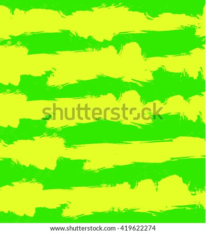 Abstract VECTOR grunge background with green and yellow stripes. Seamless pattern, pastel colors. - stock vector