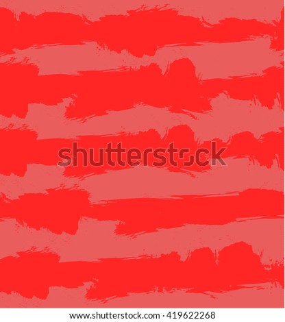 Abstract VECTOR grunge background with red and light red stripes. Seamless pattern, pastel colors. - stock vector