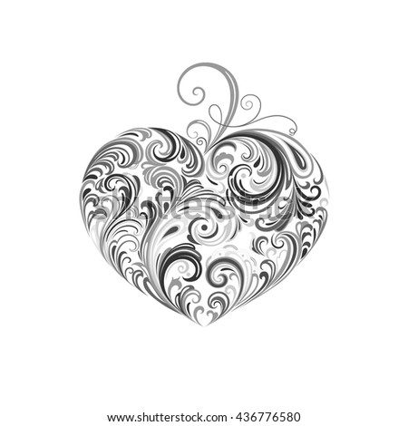 Abstract vector heart. Element for design. - stock vector