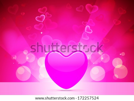 Abstract Vector Heart for Valentines Day Background - stock vector