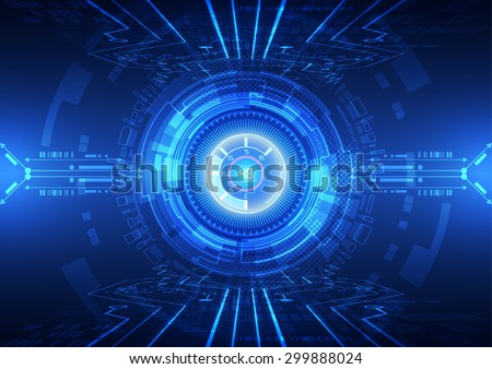 abstract vector hi speed internet technology background illustration - stock vector