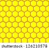 Abstract vector honeycomb seamless pattern - stock vector