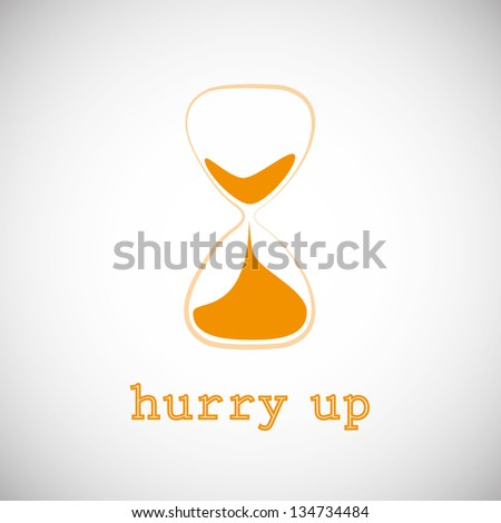 Abstract Vector Hourglass - stock vector