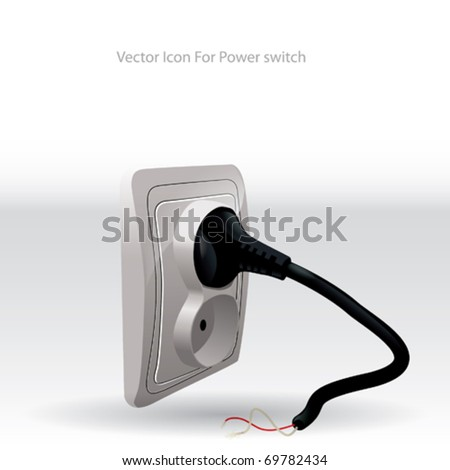 Abstract Vector Icon for Power Switch - stock vector
