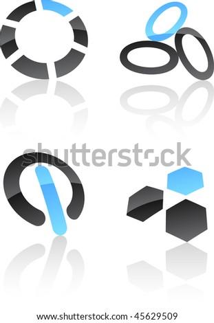 Abstract vector icons such logos. - stock vector