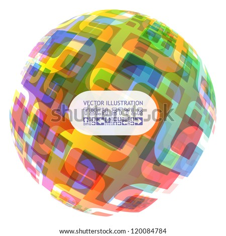 Abstract vector illustration. - stock vector