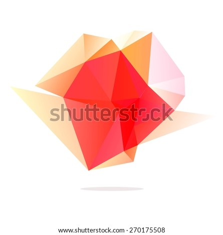 Abstract vector Illustration. Abstract polygonal colorful shape.  - stock vector