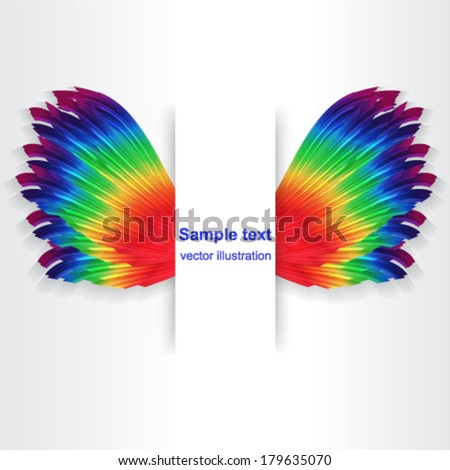 Abstract vector illustration - colorful wings - stock vector
