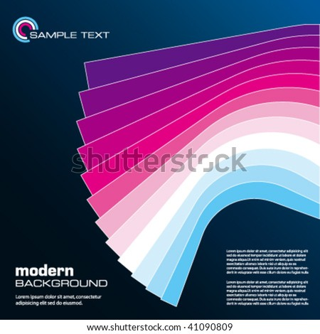 Abstract vector illustration depicting colorful layout template.