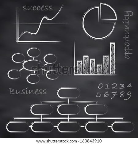 Abstract vector illustration of a business blackboard - stock vector