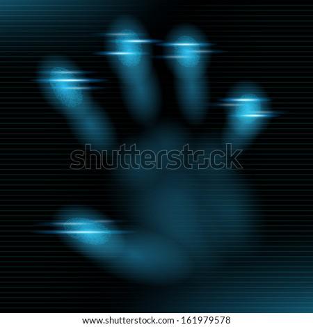 Abstract vector illustration of a digital fingerprint - stock vector
