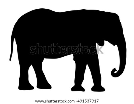 Abstract vector illustration of an elephant silhouette