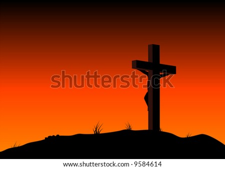 Abstract vector illustration of christ on the cross - stock vector
