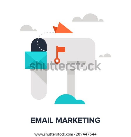 Abstract vector illustration of email marketing flat design concept. - stock vector