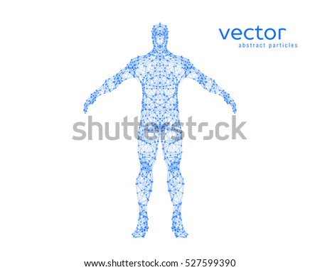 Abstract vector illustration of  man on white background.
