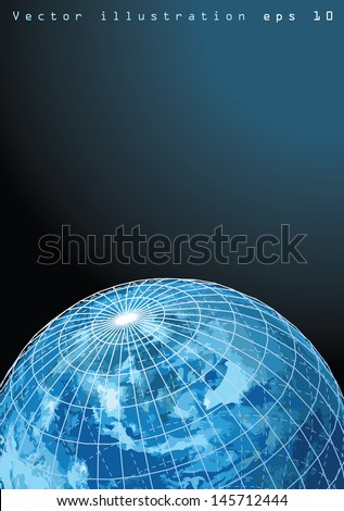 abstract vector illustration of the Earth - stock vector