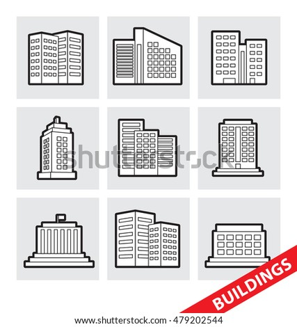 Abstract vector illustration of vector Buildings