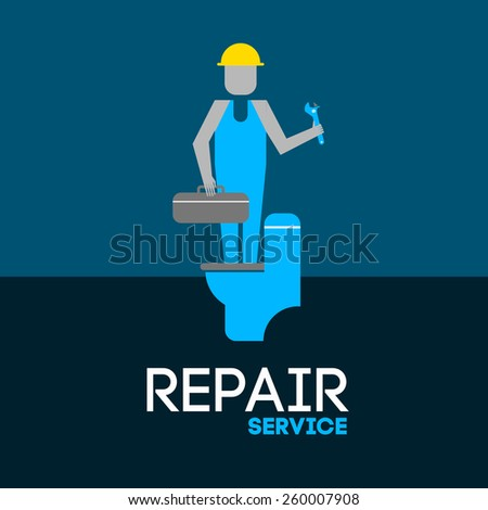 abstract vector illustration repair service  - stock vector