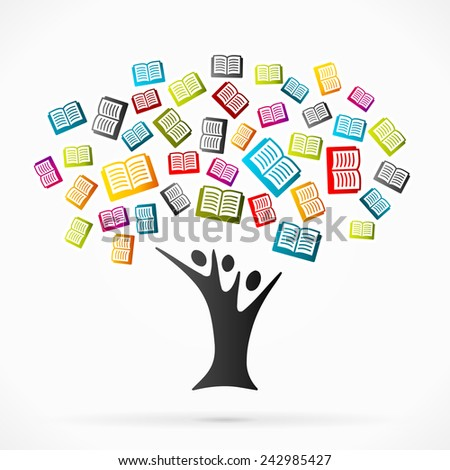 Abstract vector illustration with education tree