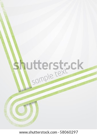 Abstract vector illustration with modern designed lines and gradient background with sunburst effect and shadow on line crossing