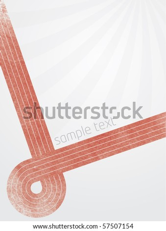 Abstract vector illustration with red lines and gradient background with sunburst effect
