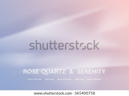 Abstract vector illustration with smooth waves. Trend colors of the year 2016 rose quartz and serenity. Modern curves background - stock vector