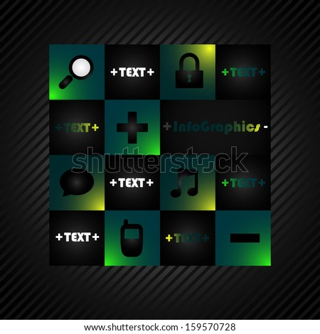 Abstract vector infographics element - info graphics concept - website element or business  icons