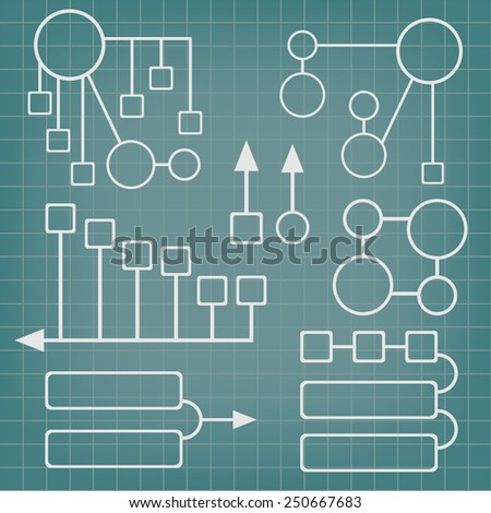 Abstract vector infographics elements set