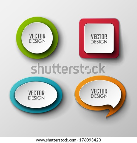 Abstract vector labels set   - stock vector