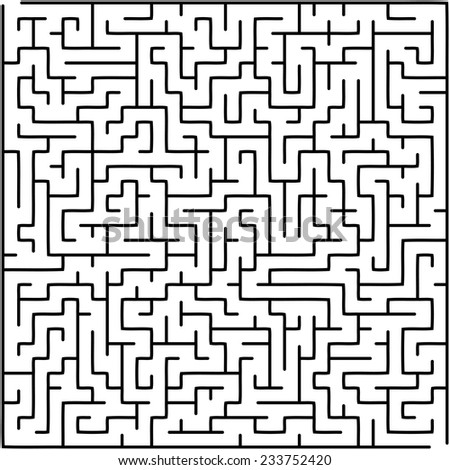 Abstract vector labyrinth - stock vector