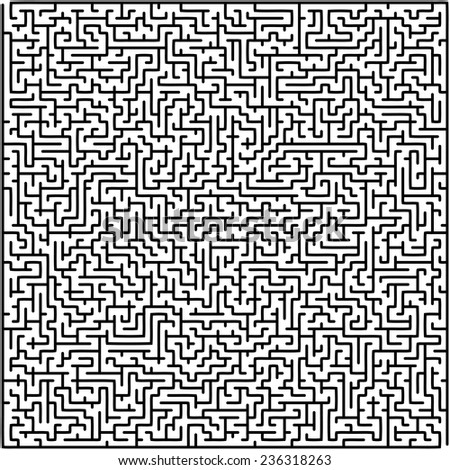 Abstract vector labyrinth