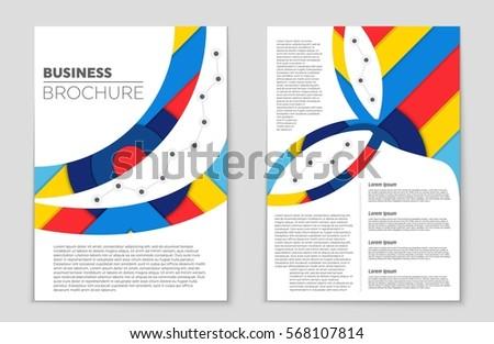 Vector Business Brochure Flyer Template Stock Vector 127508033 ...