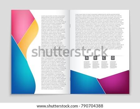 Wunderbar Broschüre Vorlage Auf Wort Bilder - Beispiel Business ...