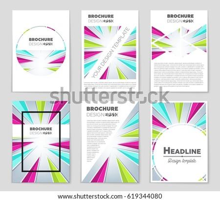 art brochure template - set flyer design stock vector 226276756 shutterstock