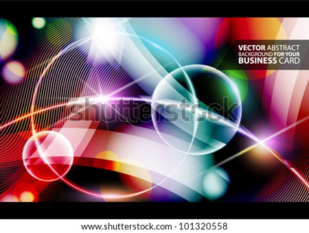 Abstract vector lights background
