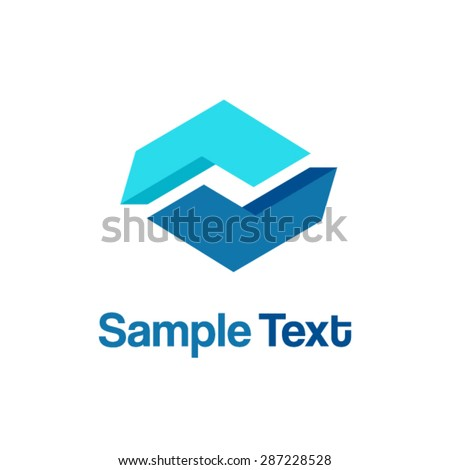 Abstract Vector Logo Design Template - stock vector