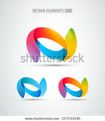 Abstract vector logo design template. Business abstract icon. Futuristic corporate icons - stock vector