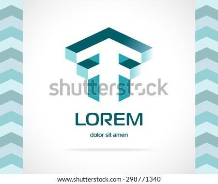 Abstract Vector Logo Design Template. Creative Concept Icon. Letter F Stylization  - stock vector